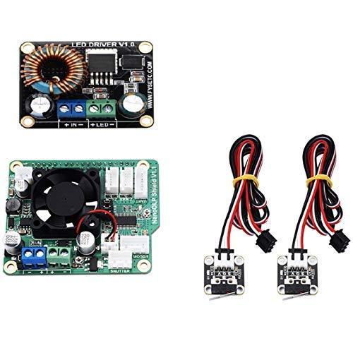 For 3D Printer NanoDLP Shield V1.1 Expansion Board +Boost LED Driver Board + 2Pcs CR-10 Limit Switch for SLA UV Cured 3D Printer Parts Cables for 3D Printer