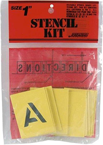 Decorcal 1SK Reusable Stencil Lettering Kit, 2,5cm