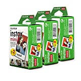 Fujifilm Instax Mini Film, White Multi-Pack (60 Exposures)