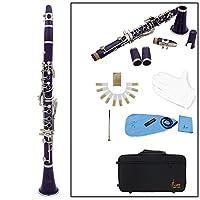 Andoer 高品質 木管楽器 クラリネット セット 8色選択可能 17キー B♭フラット ABS ソプラノ 10リード マウスピース コルクグリース 手袋 リードケース ドライバーなど付き  初心者/音楽愛好者対応【並行輸入品】