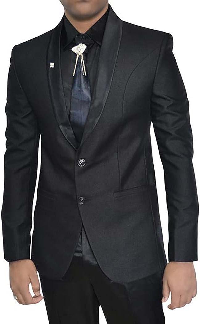 INMONARCH Mens Black Polyester 5 pc Tuxedo Suit Shawl Collar TX011256