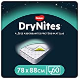 Huggies - Protector absorbente desechable para cama individual (88 x 78 cm), para niños de 3 a 15...