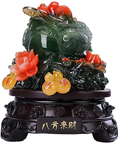 JJDSN Feng Shui Estatua Adorno Dinero Rana (Sapo De Dinero) Escultura Figuras Decoracin De La Oficina del Hogar, Felicitacin De Inauguracin De La Casa, Amarillo