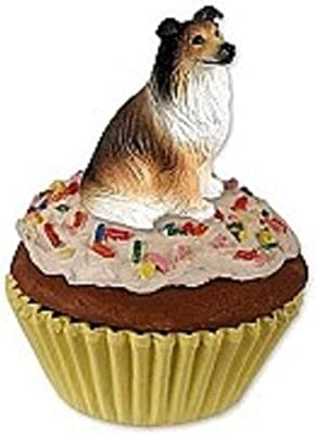 COLLIE ~ SABLE ~ CUPCAKE TRINKET BOX