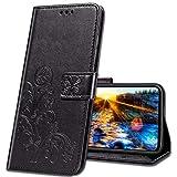 MRSTER LG Q60 Wallet Case Leather, Premium PU Embossed