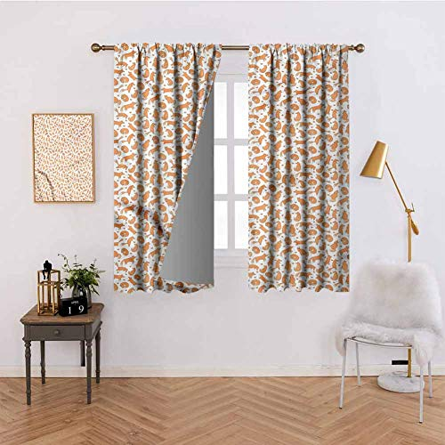Price comparison product image Fantasy Kids Blackout Curtains for Bedroom - Open Door of Castle Gate Thermal Insulated Curtains Bedroom Decoration Home Decorative, Set of 2 Panels(38W X 45L Inch)