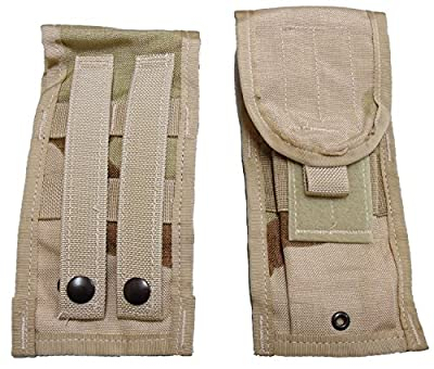 Military Outdoor Clothing 7562-N Never Issued Desert M4 MOLLE Double Mag Pouch