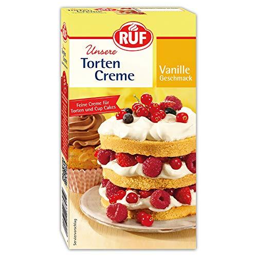 Torten Creme Vanille zur Zubereitung einer luftig lockeren Torten Garnitur, 1 x 100 g