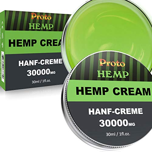 ProtoHemp Anti-inflammatory Hemp Cream - Natural Hemp Joint & Muscle Active Relief Gel for The Back,...
