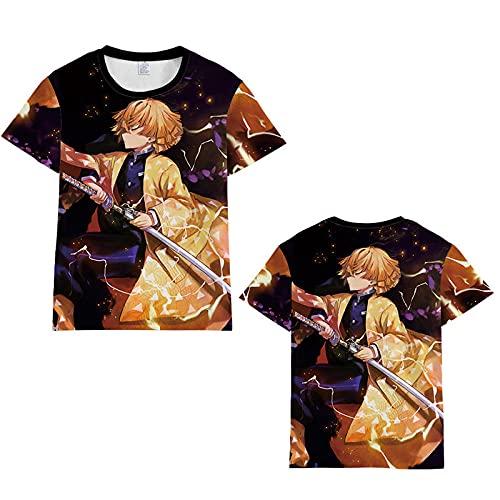 Camiseta para Hombre con Cuello Redondo,Blade Fantasma 3dt Camisa de Manga Corta Deportiva de Dibujos Animados Anime 3D Camiseta de los hombres-ATW2A210313X_4XLARGE
