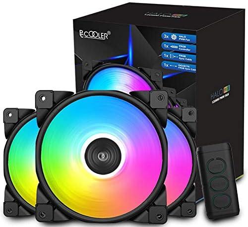 Pccooler 120mm Case Fan Dawn Series 3M120HALO LED RGB Silent Fans Advanced Lighting Customizations product image