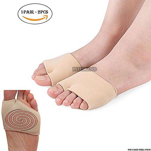 Pedimend Mittelfußknochenschoner, mit Gel-Polster, lindert Schmerzen im Ballen, unterstützt Metatarsalgie/ Morton-Neurom, lindert Blasen/Schwielen/nach Operationen/anderen Fußschmerzen, unisex, 1 Paar