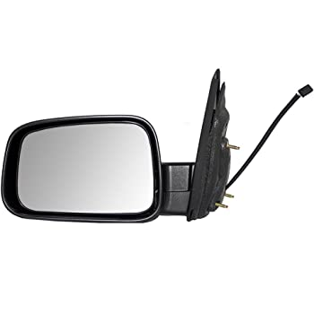 Passengers Power Side View Mirror Replacement with Bright Chrome Cover for Chevrolet 20923830