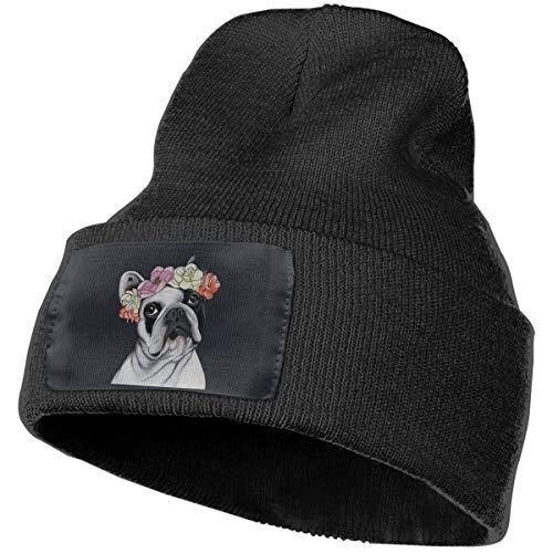 NFGrfd Frenchie French Bulldog Warm Winter Hat Knit Beanie Skull Cap Cuff Beanie Hat Winter Hats for Men & Women Black