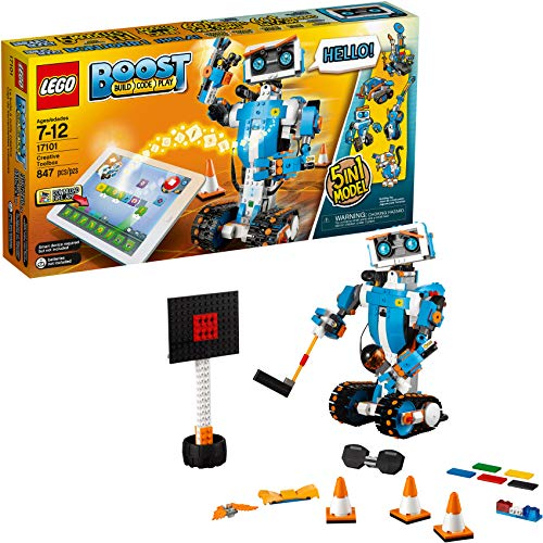 LEGO Boost Creative Toolbox 17101 Fun Robot Building Set and Educational STEM Coding Kit for Kids, Award-Winning STEM Learning Toy.
