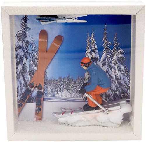 ZauberDeko Geldgeschenk Verpackung Ski Fahren Winterurlaub Skiurlaub Berge Geschenk Skiausrüstung