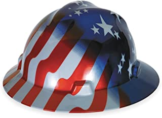 MSA (Mine Safety Appliances) 10071157 V-Gard Freedom Series Class E Type I Hard Hat with Fast-Track Suspension and American Stars and Stripes