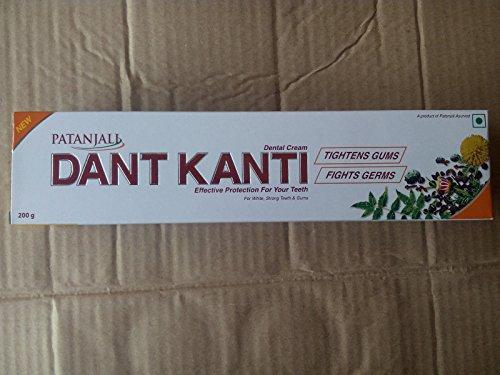 Patanjali Dant Kanti Zahnpasta, 200 g, 100 % ayurvedische Divya-Zahnpflege, Mundgummipflege