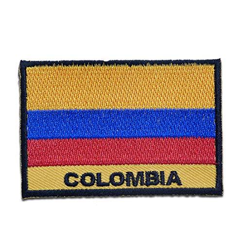 Parches - Colombia bandera - amarillo - 5,6x8,3cm - termoadhesivos bordados aplique para ropa