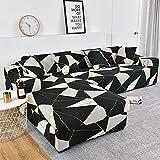 WXQY Funda de sofá de Esquina para Sala de Estar Funda de sofá elástica Toalla de sofá elástica Funda de sillón Chaise Longue en Forma de L A27 1 Plaza