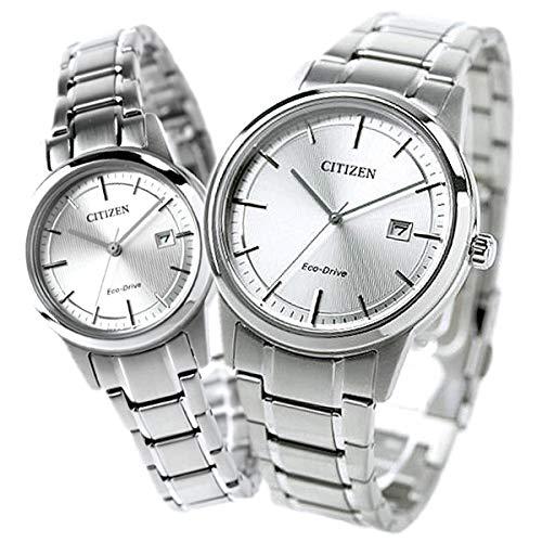[シチズン]CITIZEN 腕時計 エコドライブ 日本製 シルバー AW1231-66A FE1081-67A ペアウォッチ メンズ レディース