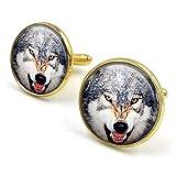 Butterfly N Beez Bronce Antiguo Gemelos de Lobo| Gemelos Wolves| Lobos| Gemelos| Joyas de Lobo|...
