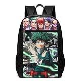 My Hero Academia College 17 Zoll Schule Bookbag Casual Daypack Bag für Frauen Männer Erwachsene