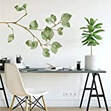 RoomMates RMK4080GM Leaf Twig Peel And Stick Giant Wall Decals,Green, Brown, Yellow