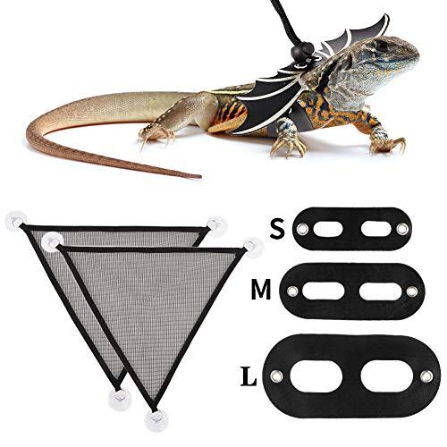 Yorgewd Dragón Barbudo Accesorios – Arnés de dragón Barbudo y hamacas de Malla para Reptiles Lagarto Anfibios Animales pequeños Animales de compañía