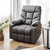 Giantex Power Lift Chair Electric Recliner Sofa for Elderly, Fabric Reclining Sofa w/ 8 Point Massage & Lumbar Heat, 2 Side Pockets Cup Holders USB Charge Port, Motorized Sofa Chair for Living Room