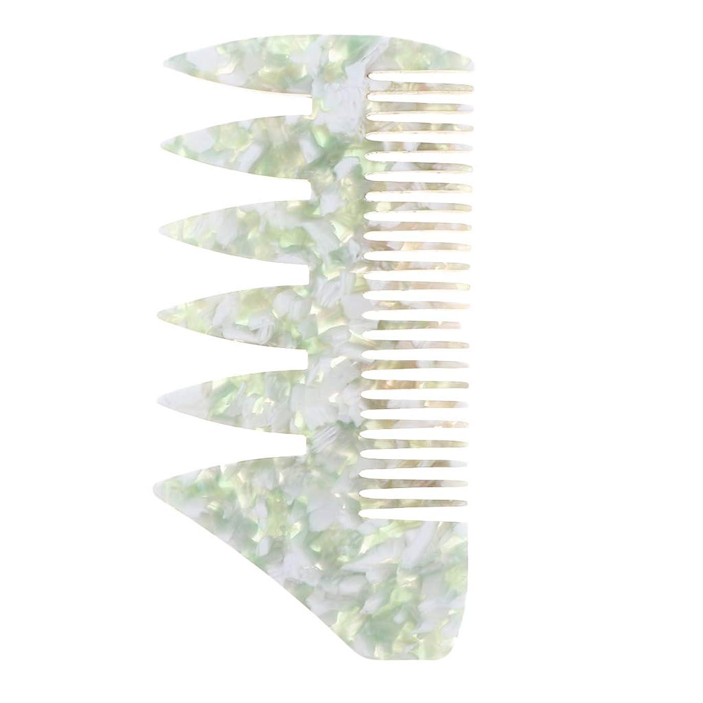 仮定、想定。推測売上高スタイルCUTICATE 男性 ヘアピックコーム サロン 広い歯 ヘアスタイリングコーム 全4色 - 緑