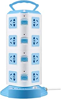 FRCOLOR Charging Station Vertical Socket Desktop USB Charging Ports Electric Charging Station Power Strip Tower Cord Wire ...