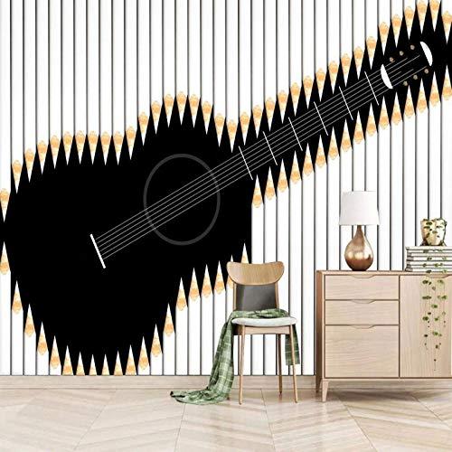 Msrahves tapeten kleister Abstraktion Instrumente Gitarren Vliestapete Vlies moderne Mustertapete Tapete Wallpaper Tapezier Fototapete selbstklebend Livingwalls Fototapeten
