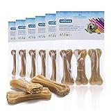 Nobleza - 12 Pezzi Osso Pressato per Cani Pelle Bovina Rinforzante per Denti Bastone Dentale Snack per Cani 10 cm