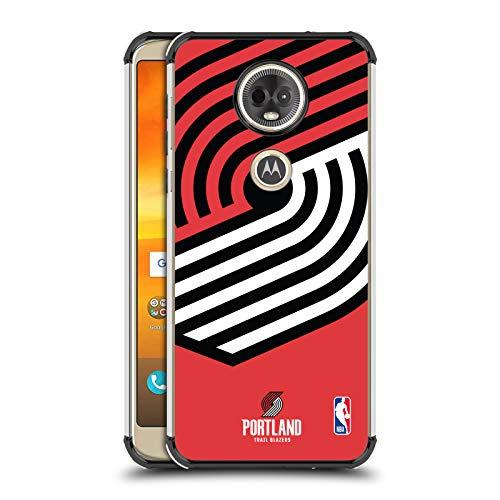 Officiële NBA Oversized pictogram Portland Trail Blazers Zwarte Shockproof Fender Case Compatibel voor Motorola Moto E5 Plus