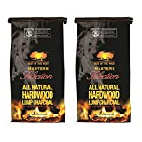 Best of the West Masters Selection 20 Pound Bag All Natural Hardwood Lump Charcoal for Grilling,...