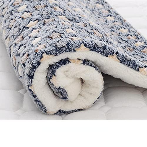 Suave franela engrosada para mascotas almohadilla de lana suave manta para mascotas estera de cama para cachorro perro gato sofá cojín alfombra para el hogar mantener caliente cubierta para dormir