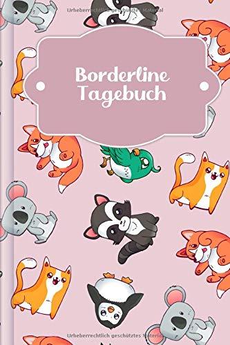 Borderline Tagebuch: Tagebuch für Mental Health für alle Borderline PatientInnen zum Ausfüllen | Motiv: Rosa Tierwelt