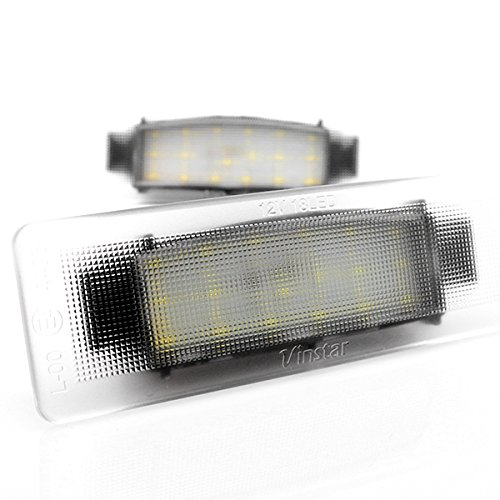 2 x LED Kennzeichenbeleuchtung Nummernschildbeleuchtung Canbus Plug&Play mit Dichtung E-Prüfzeichen V-032106