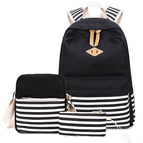 Abshoo Causal Canvas Stripe Backpack...