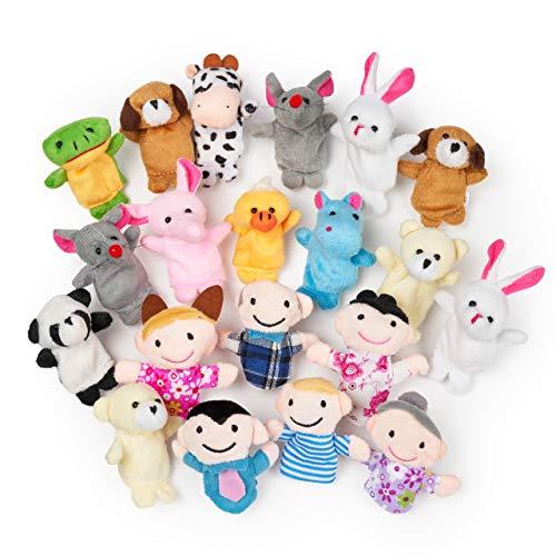 THE TWIDDLERS 20 Marionetas de Dedos - Set de Juguetes de Animales Marioneta