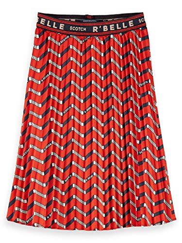 Scotch & Soda R´Belle Girls Plisse with Zig zag Allover Print Skirt, Combo B 0218, 14