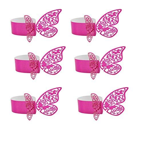 10 Papillon Couleurs Mélangées Verre à Vin Charme Fête Anniversaire Décoration.