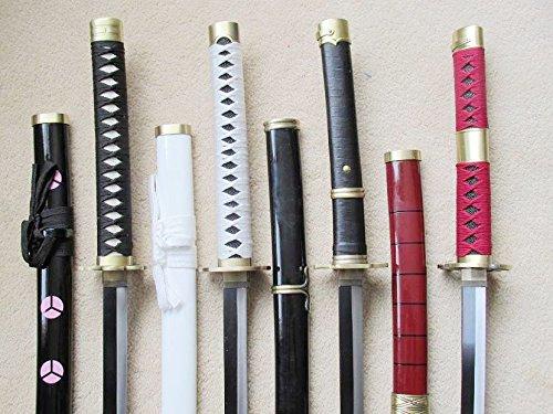 S2695 Anime ONE Piece SHUSUI WADO ICHIMONJI YUBASHIRI SANDAI KITETSU Serial Sword Gun Metal 40' LOT 4