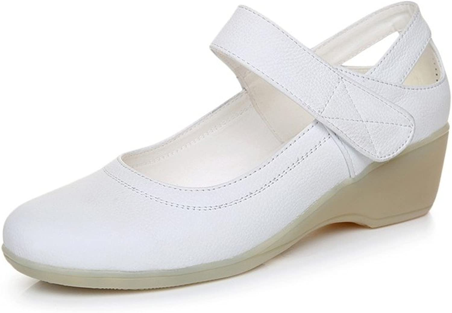 MET RXL Ladies Leather shoes Wedges Casual shoes Comfortable Commute to Work shoes
