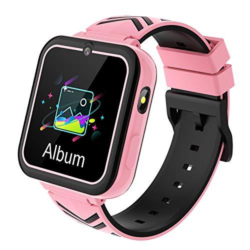 Smartwatch Kinder - Uhr Telefon mit HD Touchscreen Musik Player, Kamera, Wecker, Spiel, Taschenlampen, SOS Uhr Anruf Kinder Geschenke Geburtstag für Jungen und Mädchen Alter 3-12