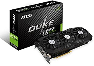 MSI Gaming GeForce GTX 1070 Ti 8GB GDRR5 256-bit HDCP Support DirectX 12 SLI TriFrozr Fan VR Ready Graphics Card (GTX 1070 TI Duke 8G)