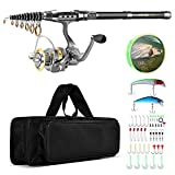outlife Fishing Tackle Kit with Spinning...