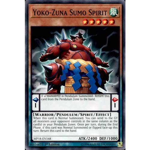 1st Edition Yu-Gi-Oh M//NM Common x3 Yoko-Zuna Sumo Spirit MP18-EN168