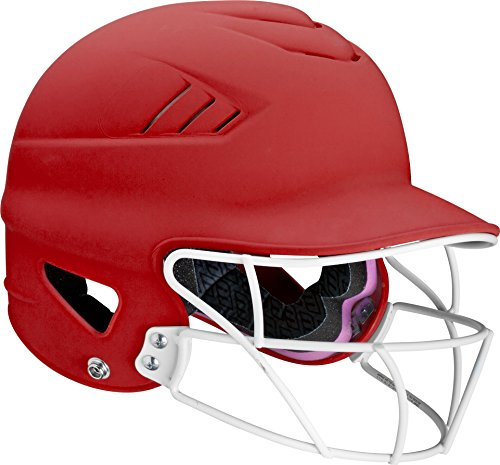 Worth Women's 60 MPH Fastpitch Highlighter Batting Helmet, Scarlet, 6 1/2' - 7 1/2'